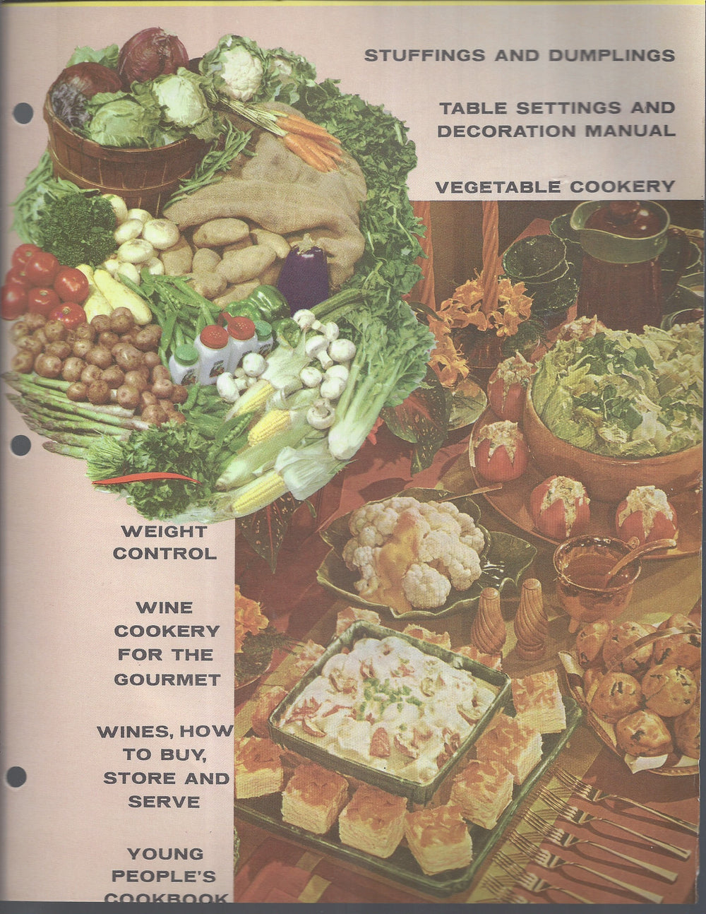 Mary Margaret McBride Encyclopedia of Cooking Cook Book Deluxe Edition 1960 (2ND EDITION) (Cover Page-Stuffing and Dumplings-Young peoples)