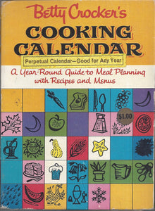 Betty Crocker's Cooking Calendar 1962 1st Edition/Printing
