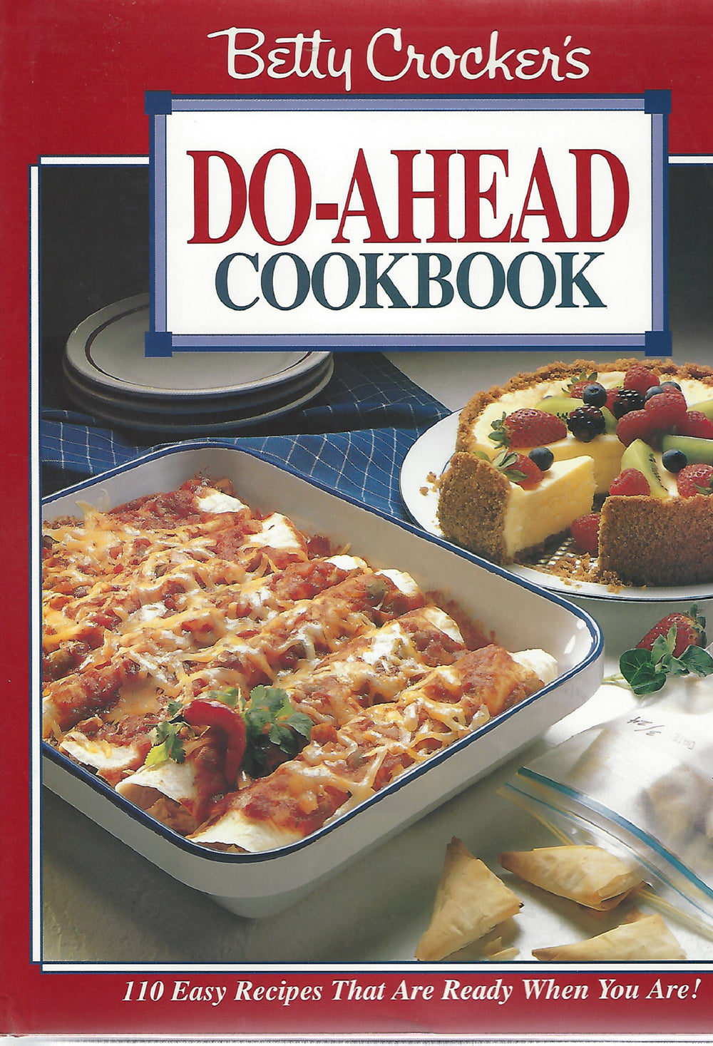 Betty Crocker's Do-Ahead  Cook Book 1995 1st Printing  (HARDCOVER)