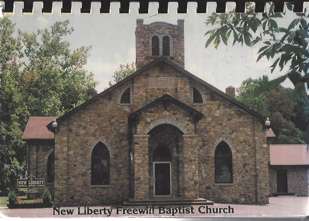 A Book of Favorite Recipes  Compiled by The Ladies Auxiliary New Liberty Freewill Baptist (Spiral) 1990