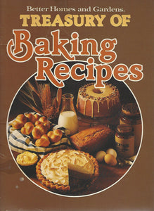 Better Homes and Gardens Treasury of Baking Recipes (Softcover)  1981