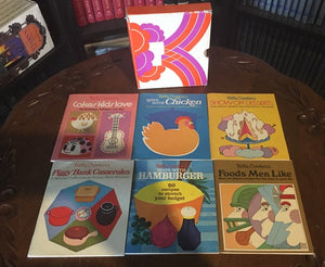 Betty Crocker's Various (6) Cooking and Baking Booklets with Cardboard Case (1969)