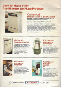 KitchenAid Electric Housewares Recipes and Instructions  (Softcover) 1965