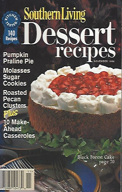 The Southern Living  Dessert Recipes (Softcover) November 1996