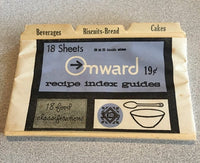 Vintage Onward Recipe Index Guides (Ben Franklin Westab)