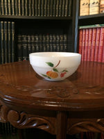 Vintage Fire King-Gay Fad Fruit Pattern 6 Inch Diameter (Hand Painted Mixing Bowl)