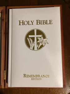 Holy Bible Remembrance Memorial Edition W/Cedar Box