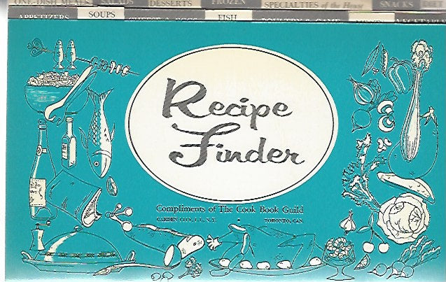 Vintage Cook Book Guild Recipe File Finder Index Cross Reference Journal Booklet  (Softcover)