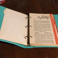 Vintage  My Favorite Recipes Recipe File Keeper from Marquette  ( 3 Ring Binder)