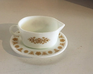 Vintage PYREX--Butterfly Gold--# 77B & Underplate # 77U