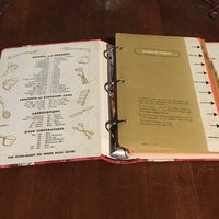 Vintage Do it Yourself Recipe Holder/Cookbook     ( 3 Ring Binder)   1960's/70's