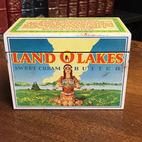 Vintage Land O Lakes Recipe Tin