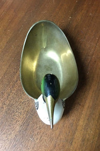 Vintage Brass Duck Candy Dish (India)