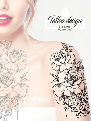 sexy roses tattoo Ideas