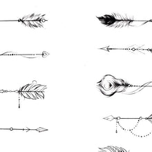 Load image into Gallery viewer, 10 originals arrows tattoo design references