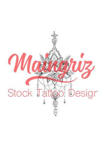 sexy mandala tattoo design digital download