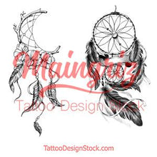 Load image into Gallery viewer, 2 x sexy realistic dreamcatchers  tattoo design high resolution download