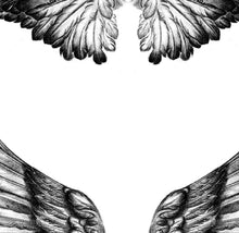 Load image into Gallery viewer, 2 x sexy wing tattoo design high resolution download