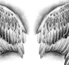 Load image into Gallery viewer, Realistic Wings  tattoo design high resolution download