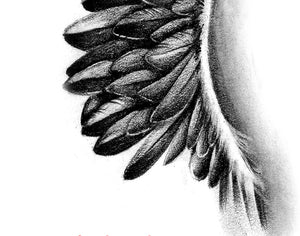 Sexy realistic wing  tattoo design high resolution download