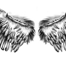 Load image into Gallery viewer, Realistic sexy wing  tattoo design high resolution download