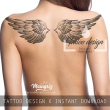 Load image into Gallery viewer, Sexy realistic wing - download tattoo design