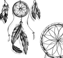 Load image into Gallery viewer, 3 x Realistic sexy dreamcatchers tattoo design high resolution download
