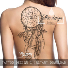 Load image into Gallery viewer, 3 x Sexy realistic dreamcatchers  tattoo design high resolution download
