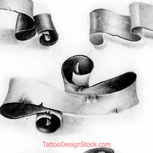 5 realistic banner for tattoo by tattoodesignstock.com