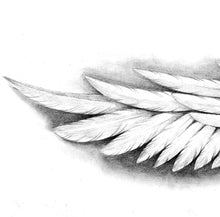 Load image into Gallery viewer, Realistic wing tattoo design high resolution download