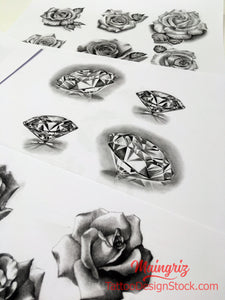 4 amazing diamonds for your custom sleeve tattoo design high resolution download by tattoo artist