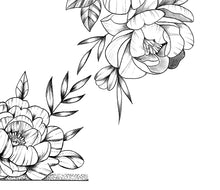 Load image into Gallery viewer, 5 x sexy Peony half sleeve design download high resolution download