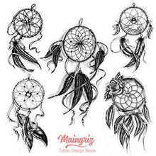 Load image into Gallery viewer, amazing dreamcatchers tattoo design for sleeve tattoo