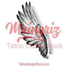 Load image into Gallery viewer, Realistic wing sexy  tattoo design high resolution download