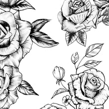 Load image into Gallery viewer, 7 sexy roses line work tattoo designs references.