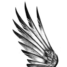 Load image into Gallery viewer, 2 x sexy realistic wing  tattoo design high resolution download