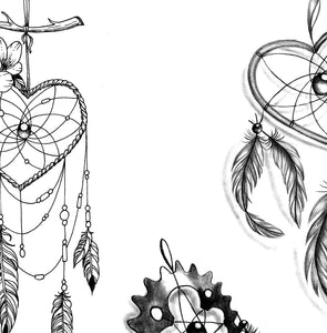 3 x Realistic dreamcatchers  tattoo design high resolution download