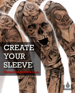create your original custom sleeve tattoo online by tattoodesignstock.com