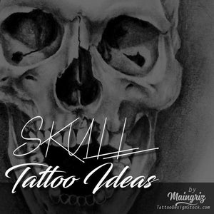 selection of amazing original skull tattoo in instant download