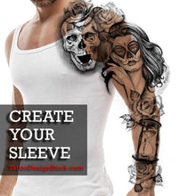 Load image into Gallery viewer, hundreds original sleeve tattoos created by tattoo artists available online