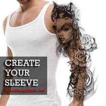 Load image into Gallery viewer, best hundreds original sleeves tattoos created by tattoo artists available online