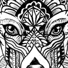 Load image into Gallery viewer, Deer Mandala - tattoo design download #2