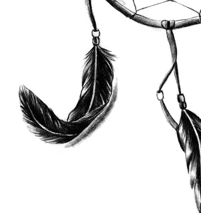 Dreamcatcher realistic sexy tattoo design high resolution download