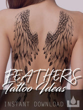 Load image into Gallery viewer, sexy feather tattoo ideas references