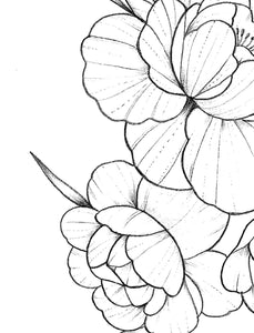 Half sleeve forearm peony tattoo design high resolution download