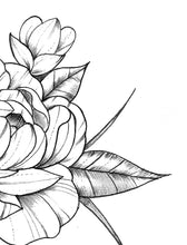 Load image into Gallery viewer, Half sleeve peony sexy tattoo design high resolution download
