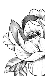 Peony half sleeve tattoo design high resolution download