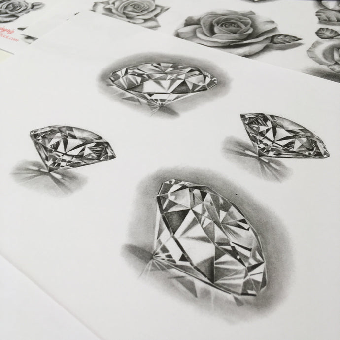 10 amazing realistic diamonds tattoo design references high resolution download