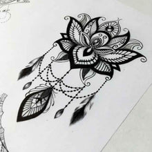 Load image into Gallery viewer, amazing lotus mandala tattoo design references for tattoo shop