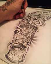 Load image into Gallery viewer, chicano sleeve tattoo design